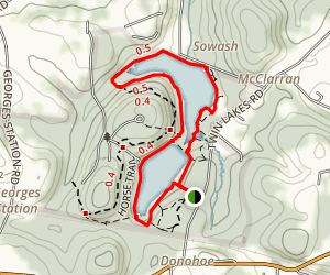 Twin Lakes Loop Trail Map