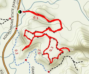 Angel's Palace Trail Map