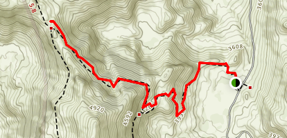 Norway Pass Trail Out-and-Back Map