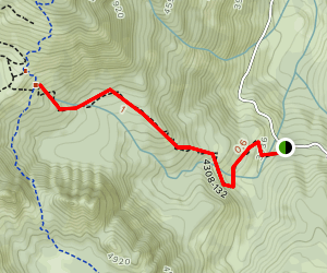 French Cabin Creek Map