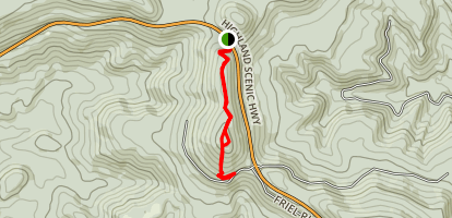 Red Spruce Knob Map