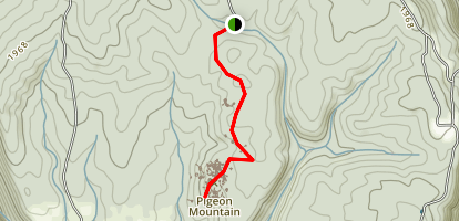 Rock Town Trail, Pigeon Mountain Map