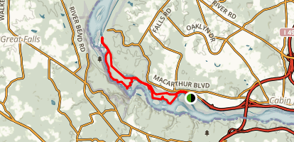 Billy Goat Trail from Chesapeake & Ohio National Historic Park Map