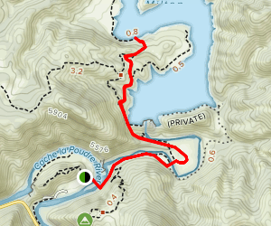 Seaman Reservoir Trail (To the Jumping Rock) Map