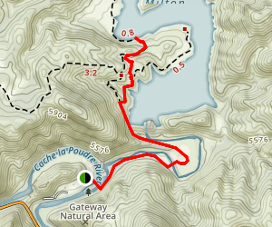 Seaman Resevoir Trail (To the Jumping Rock) Map