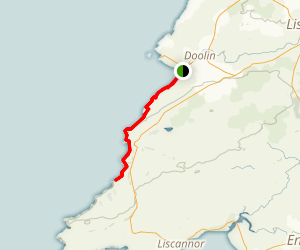 The Burren Way from Doolin Map