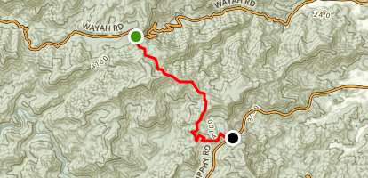 Wayah Gap to Murphy Road Map