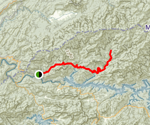 Hazel Creek and Bone Valley Trail Map