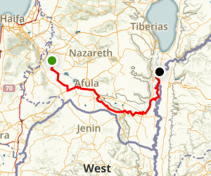 Gilboa Valley and Golan Heights Map