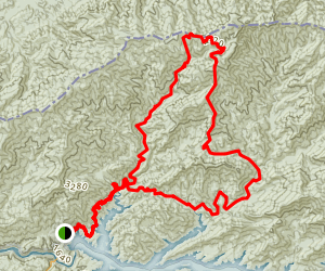 Eagle Creek, Spence Field, and Hazel Creek Loop Trail Map