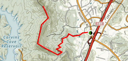Carvin's Cove Hay Rock Trail Map