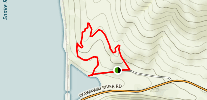 Wawawai Canyon Map
