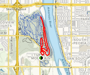 Yellow and Blue Trails Loop Map