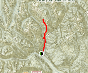 Mounument Creek Trail from Lost River to Pistol Pass Map