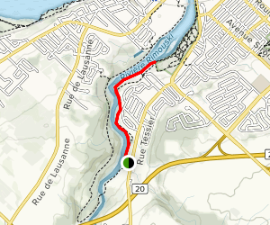 Rimouski South River Trail Map