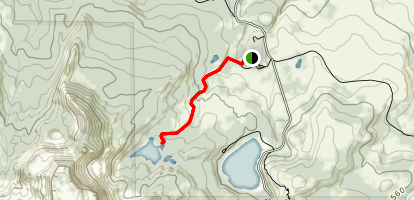Little Three Creek Lake Trail Map