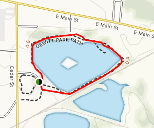 DeWitt Recreation Area Loop Map