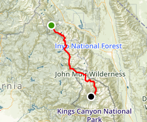 John Muir Trail in Kings Canyon Map