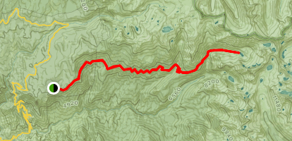 Crescent Meadow to Tamarack Lake Map