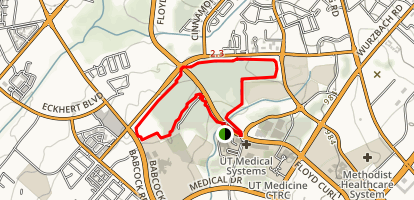 Medical Center Jogging Trail Map