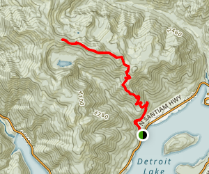 Tumble Ridge Trail #3380 [CLOSED] Map