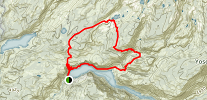 Hetch Hetchy Loop via Lake Vernon Map