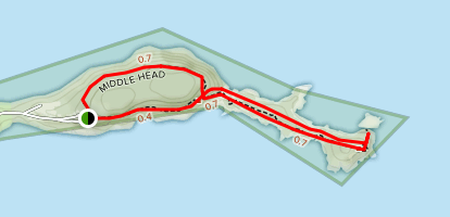 Middle Head Trail Map