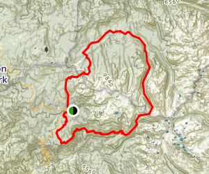Deadman Canyon Backpack Trip Map