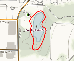 Bradley Lake Trail Loop Map