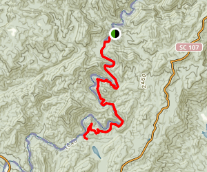 Foothills Trail: Chattooga River Map