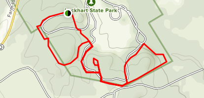 Lockhart State Park Trails Map