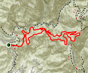 Sunset Ridge Saddle Loop Map