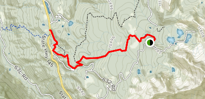 Alta to Sunshine Trail Map