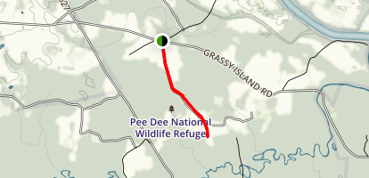 Pee Dee National Wildlife Refuge Map