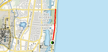 Highland Beach Run Map