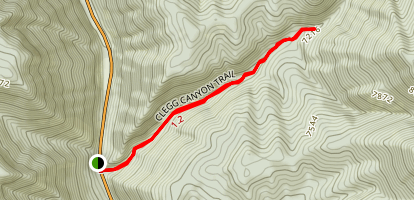 Clegg Canyon Trail Map