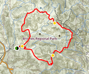Briones Regional Park Loop from Bear Creek Trail Head Map