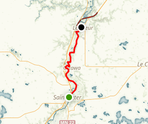 Minnesota River Paddle: Saint Peter to Le Sueur Map
