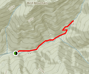 Emory Gap Trail Map
