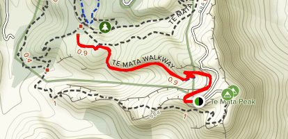 Te Mata Bike Path  Map
