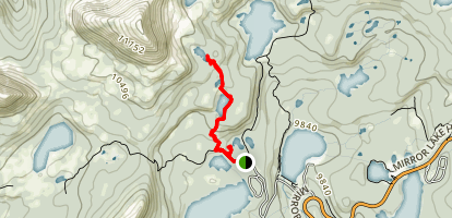 Crystal and Watson Lake Trail Map