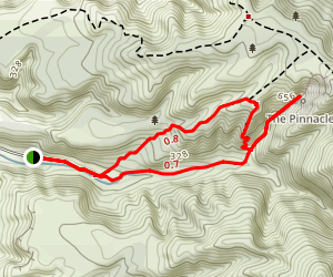 The Pinnacles Loop Map