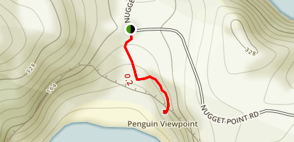 Nugget Point Penguin Viewpoint Trail Map
