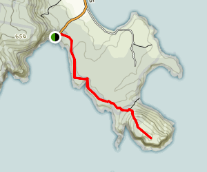 Crescent Bay Track to Mount Brown Map