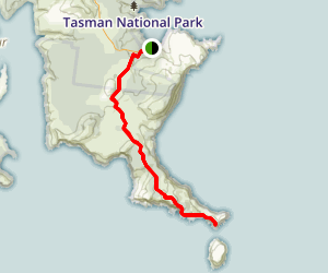 Cape Pillar Track Map