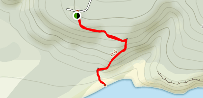 Cathedral Caves Track Map
