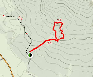 Round Hill Walking Track Map