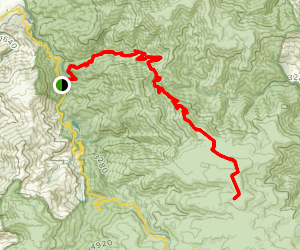 Big River Fire Trail to Mount Nelse Map