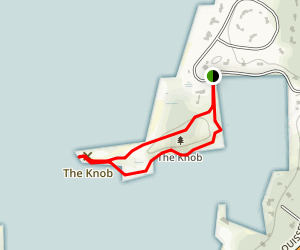 The Knob at Quissett Harbor Trail Map