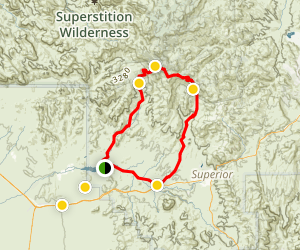 Montana Mountain Loop Trail Map